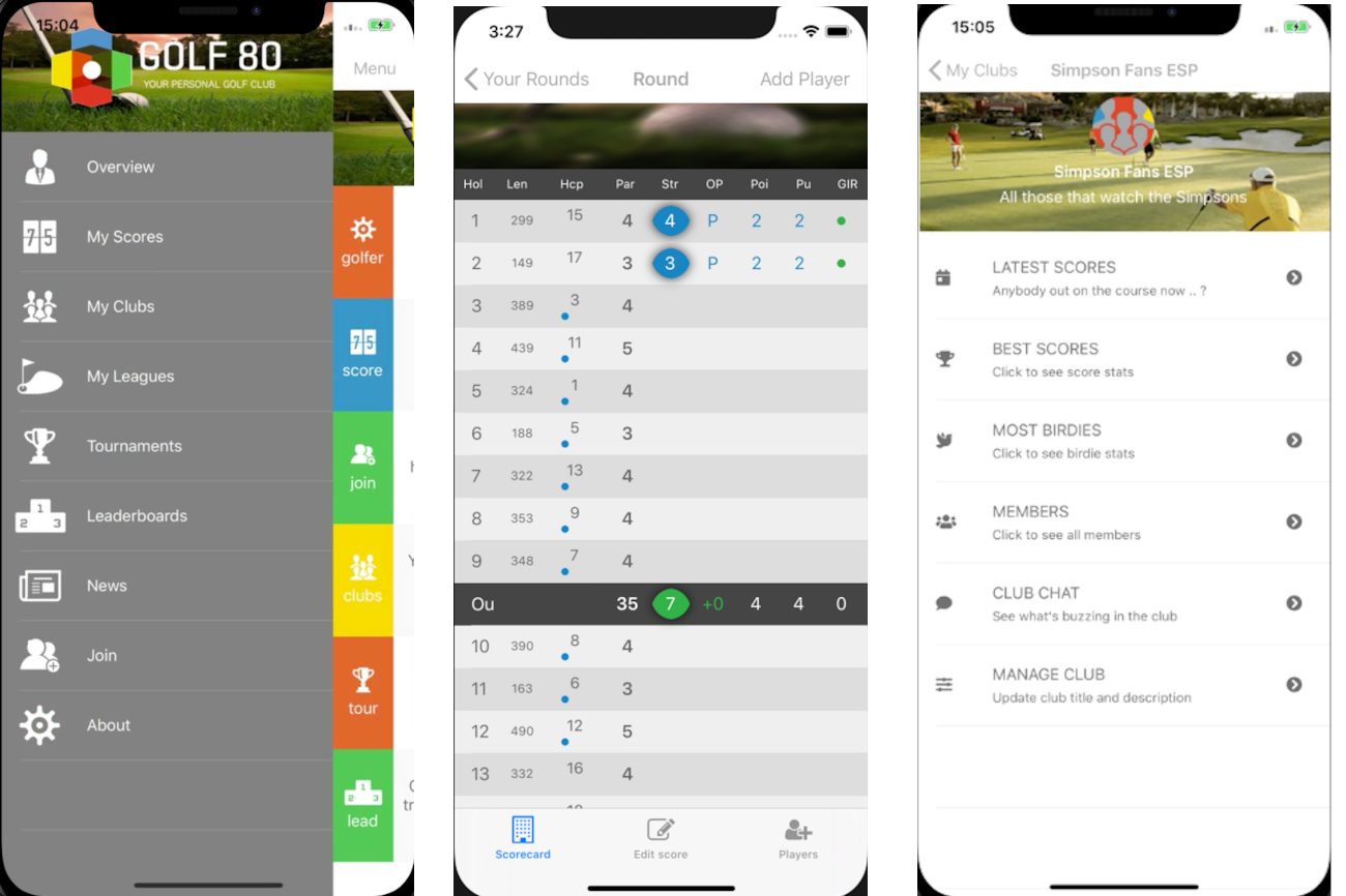 Android golf80.com client now available in the Google Play store